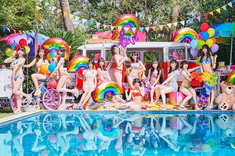 虹のコンキスタドール、7月14日発売Anniversary EP「RAINBOW SUMMER SHOWER」ジャケット写真ついに公開!さらに、最新ビジュアルも、一気に公開!!!超話題「世界の中心で虹を叫んだサマー」MVが40万回突破!そのダンスバージョンMVも公開!!